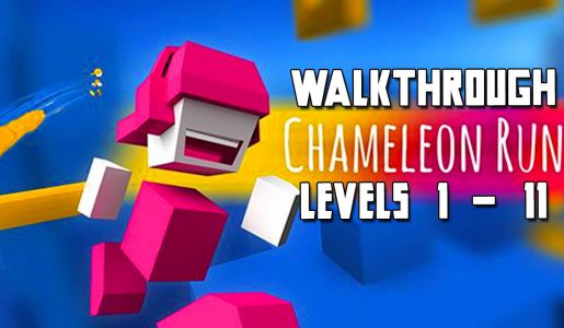 No Mistakes! Chameleon Run Walkthrough, Level 1 – 11!【Play Games】
