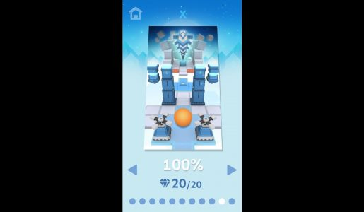 롤링스카이 10단계 100% 클리어 & 보석 20/20 (Rolling Sky Level 10 100% Clear & All 20 gems)【Play Games】