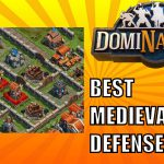 DomiNations BEST MEDIEVAL AGE BASE DEFENSE LAYOUT #1!【Play Games】