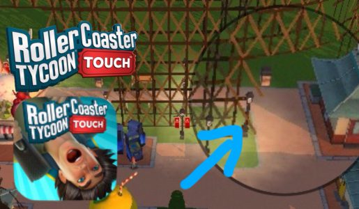 RollerCoaster Tycoon Touch (RCT) How To Put Pathways Underneath a Roller Coaster #2