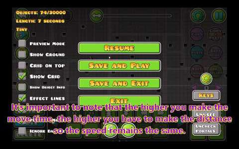 Geometry Dash Tutorial: Making the player move backwards, faster, or slower!【Play Games】