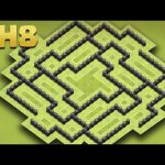 Clash Of Clans – Town Hall 8 (TH8) New Hybrid Base Strategy【Gameplay】