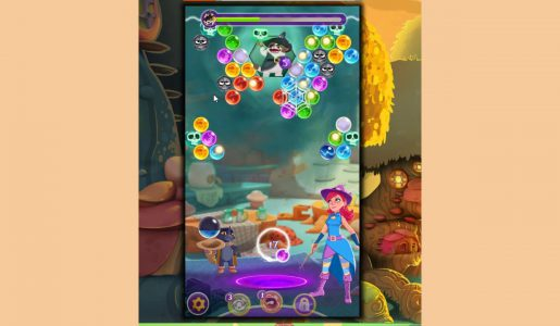 Bubble Witch 3 Saga Level 40 ~ Defeat Wilbur! boss level【Play Games】