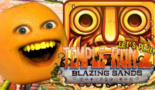 Annoying Orange Plays – Temple Run 2: BLAZING SANDS!【Play Games】