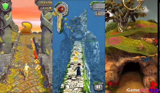 TEMPLE RUN 2 vs TEMPLE RUN BRAVE vs TEMPLE RUN OZ – Free Games Review (iOS, Android)【Play Games】