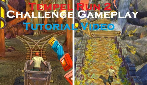 Let's Play Temple Run 2 Challenge Video & Tutorial Game Play Review【Play Games】