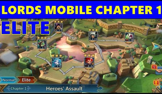 Lords Mobile: Chapter 1 Heroes' Assault Gameplay ♦ Lords Mobile Stage 1 Playthrough【Play Games】