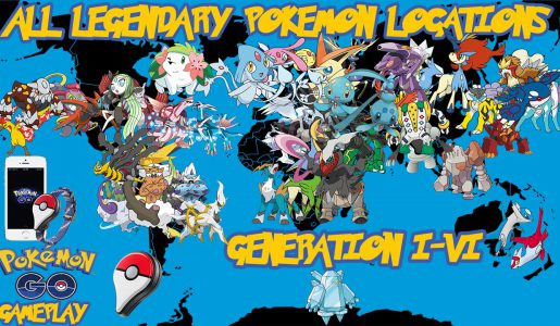 Pokemon Go – Possible Legendary Locations【Play Games】