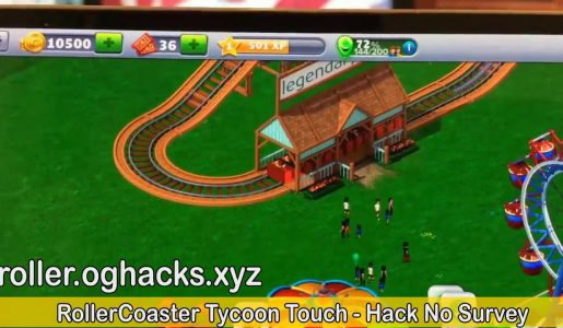 Roller Coaster Tycoon Touch(RCT) Hack Cheat : Unlimited coins and tickets【Android iOS】