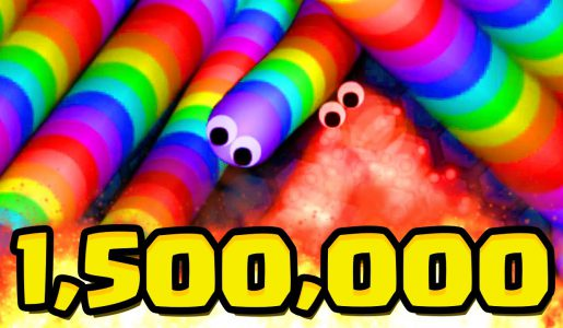 SLITHER.IO 1,500,000 WORLD RECORD SPECIAL (Slither.io Team Gameplay)【Play Games】