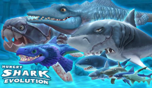 Hungry Shark Evolution – ALL SHARKS, Gameplay review Montage  | HD