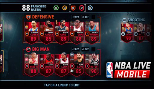 NBA LIVE Mobile Basketball – Best Team! Steph Curry Gameplay Review