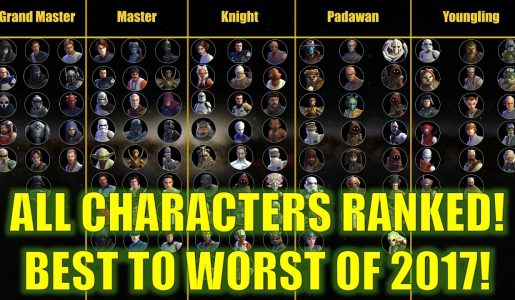 Star Wars Galaxy of Heroes: ALL Characters Ranked!! Best To Worst! 【Gameplay Review】